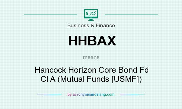 What does HHBAX mean? It stands for Hancock Horizon Core Bond Fd Cl A (Mutual Funds [USMF])