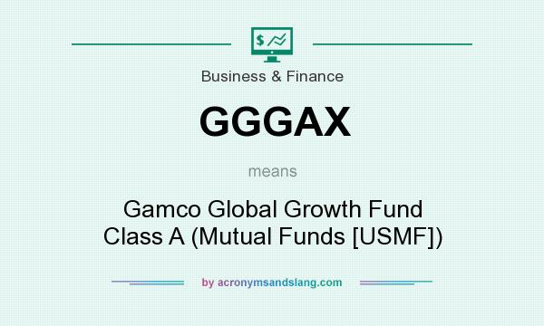 What does GGGAX mean? It stands for Gamco Global Growth Fund Class A (Mutual Funds [USMF])