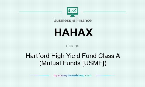 What does HAHAX mean? It stands for Hartford High Yield Fund Class A (Mutual Funds [USMF])