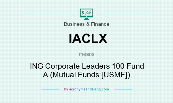What does IACLX mean? It stands for ING Corporate Leaders 100 Fund A (Mutual Funds [USMF])