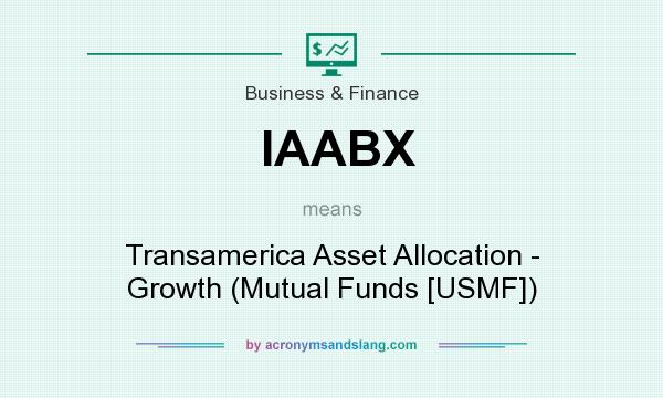 What does IAABX mean? It stands for Transamerica Asset Allocation - Growth (Mutual Funds [USMF])