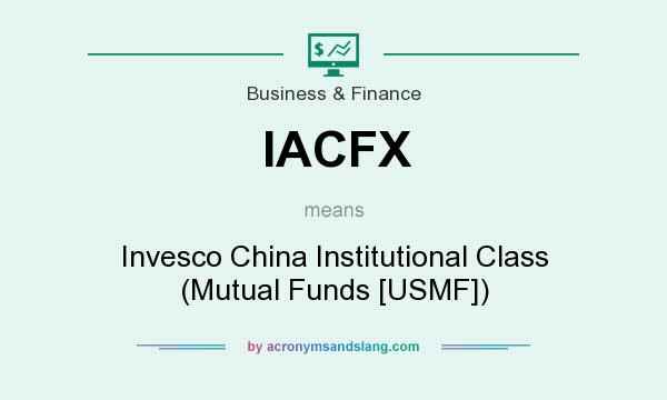 What does IACFX mean? It stands for Invesco China Institutional Class (Mutual Funds [USMF])