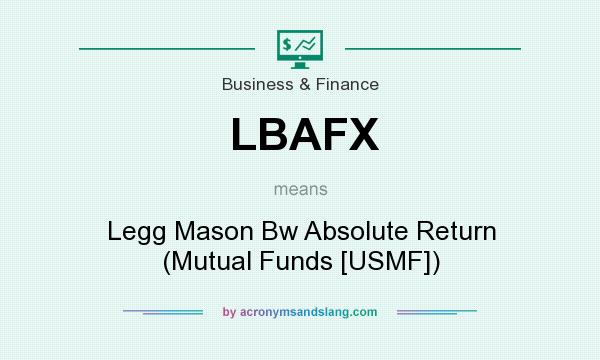 What does LBAFX mean? It stands for Legg Mason Bw Absolute Return (Mutual Funds [USMF])