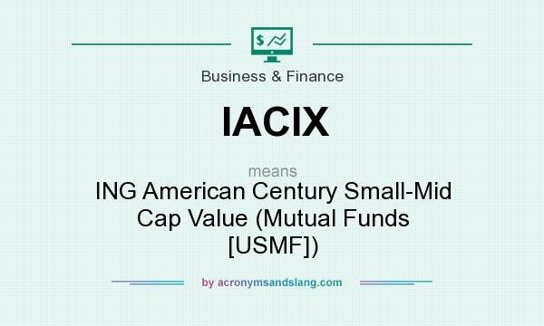 What does IACIX mean? It stands for ING American Century Small-Mid Cap Value (Mutual Funds [USMF])