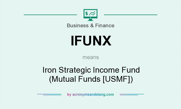 What does IFUNX mean? It stands for Iron Strategic Income Fund (Mutual Funds [USMF])