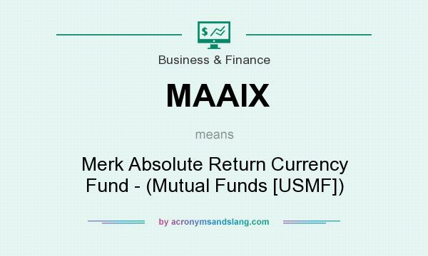 What does MAAIX mean? It stands for Merk Absolute Return Currency Fund - (Mutual Funds [USMF])