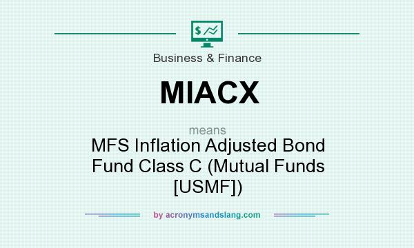 What does MIACX mean? It stands for MFS Inflation Adjusted Bond Fund Class C (Mutual Funds [USMF])