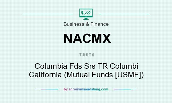 What does NACMX mean? It stands for Columbia Fds Srs TR Columbi California (Mutual Funds [USMF])