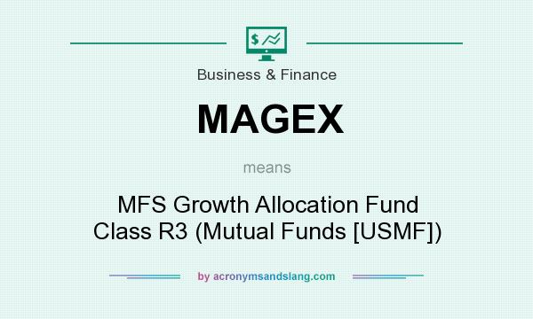 What does MAGEX mean? It stands for MFS Growth Allocation Fund Class R3 (Mutual Funds [USMF])