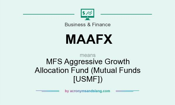 What does MAAFX mean? It stands for MFS Aggressive Growth Allocation Fund (Mutual Funds [USMF])
