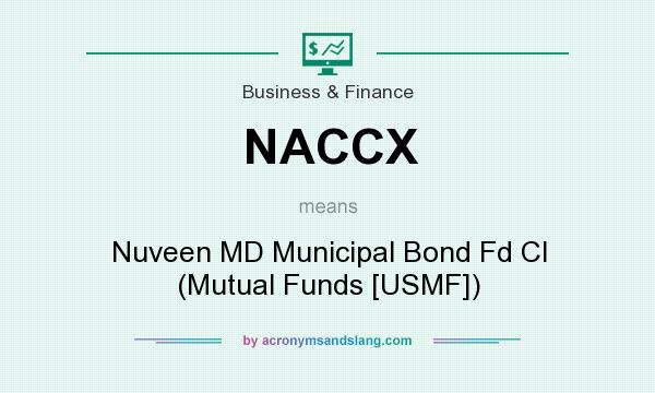 What does NACCX mean? It stands for Nuveen MD Municipal Bond Fd Cl (Mutual Funds [USMF])