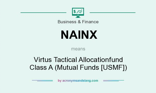 What does NAINX mean? It stands for Virtus Tactical Allocationfund Class A (Mutual Funds [USMF])