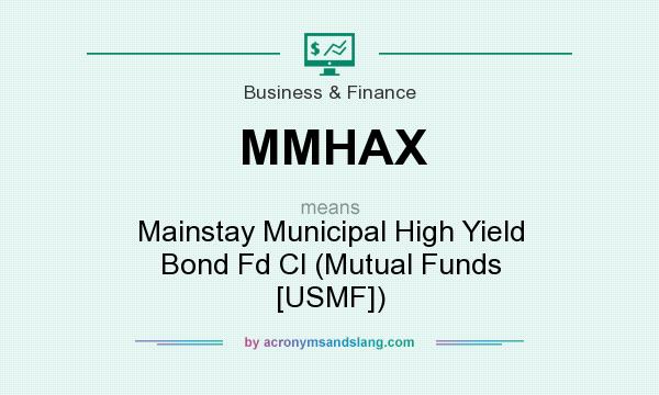 What does MMHAX mean? It stands for Mainstay Municipal High Yield Bond Fd Cl (Mutual Funds [USMF])