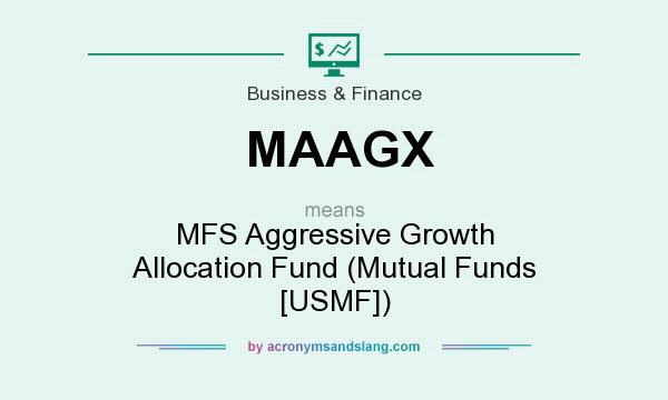 What does MAAGX mean? It stands for MFS Aggressive Growth Allocation Fund (Mutual Funds [USMF])