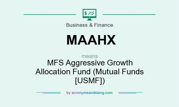 What does MAAHX mean? It stands for MFS Aggressive Growth Allocation Fund (Mutual Funds [USMF])