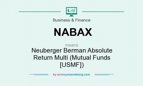 What does NABAX mean? It stands for Neuberger Berman Absolute Return Multi (Mutual Funds [USMF])