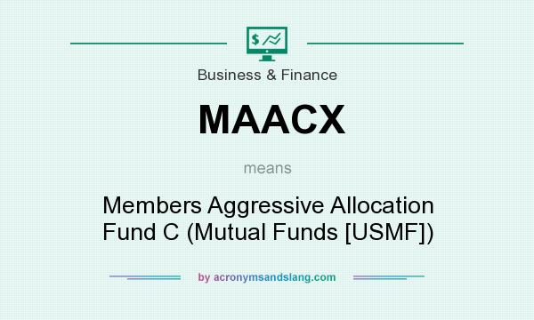 What does MAACX mean? It stands for Members Aggressive Allocation Fund C (Mutual Funds [USMF])