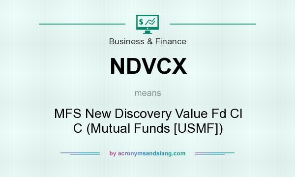 What does NDVCX mean? It stands for MFS New Discovery Value Fd Cl C (Mutual Funds [USMF])