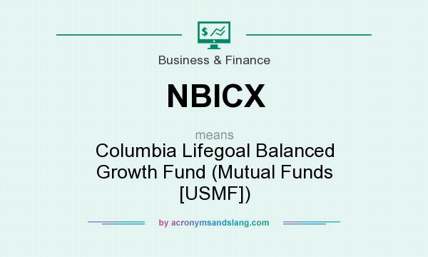 What does NBICX mean? It stands for Columbia Lifegoal Balanced Growth Fund (Mutual Funds [USMF])