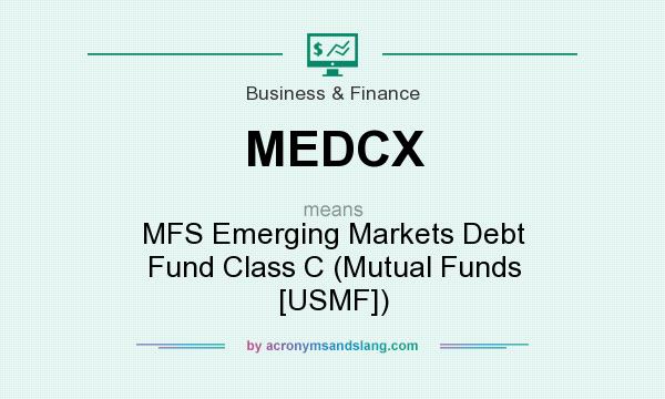 What does MEDCX mean? It stands for MFS Emerging Markets Debt Fund Class C (Mutual Funds [USMF])