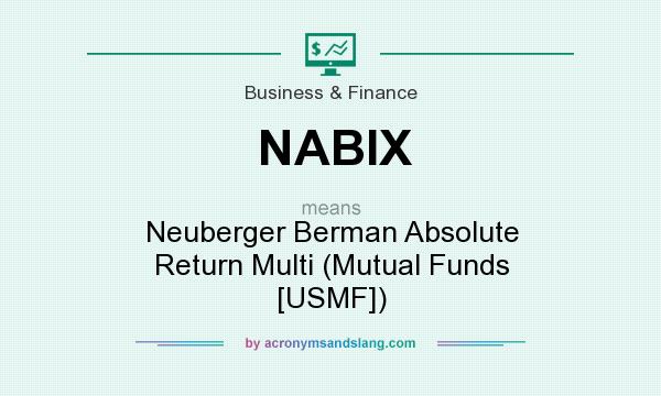 What does NABIX mean? It stands for Neuberger Berman Absolute Return Multi (Mutual Funds [USMF])