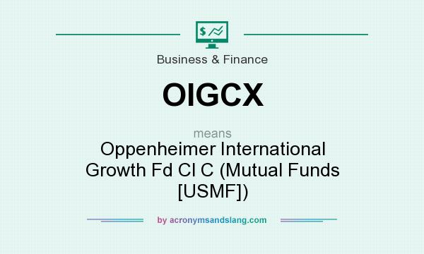 What does OIGCX mean? It stands for Oppenheimer International Growth Fd Cl C (Mutual Funds [USMF])