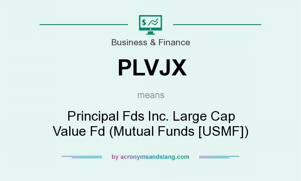 What does PLVJX mean? It stands for Principal Fds Inc. Large Cap Value Fd (Mutual Funds [USMF])