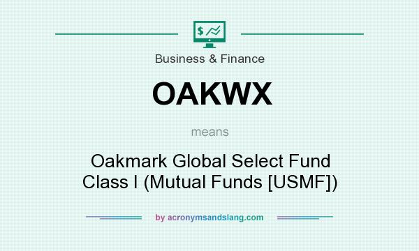 What does OAKWX mean? It stands for Oakmark Global Select Fund Class I (Mutual Funds [USMF])