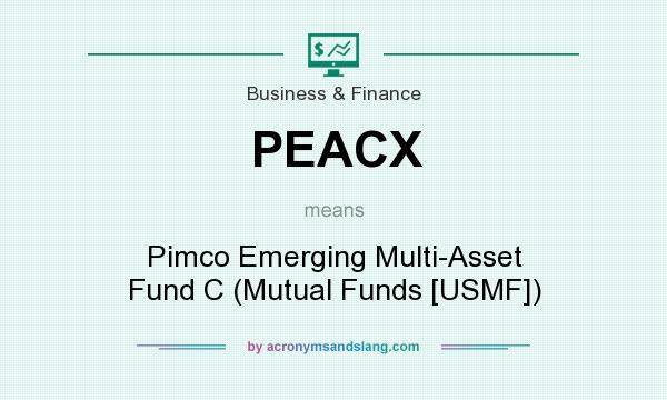 What does PEACX mean? It stands for Pimco Emerging Multi-Asset Fund C (Mutual Funds [USMF])