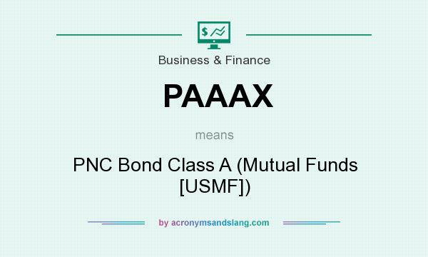 What does PAAAX mean? It stands for PNC Bond Class A (Mutual Funds [USMF])