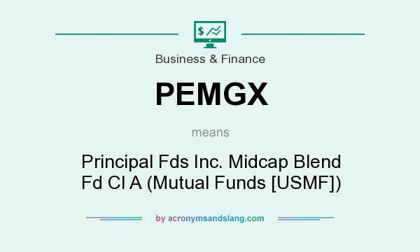 What does PEMGX mean? It stands for Principal Fds Inc. Midcap Blend Fd Cl A (Mutual Funds [USMF])