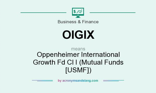 What does OIGIX mean? It stands for Oppenheimer International Growth Fd Cl I (Mutual Funds [USMF])
