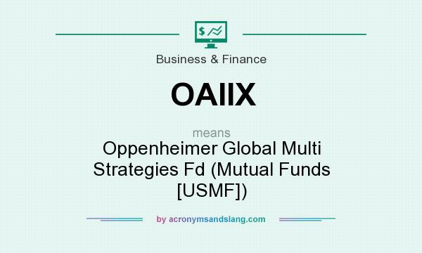 What does OAIIX mean? It stands for Oppenheimer Global Multi Strategies Fd (Mutual Funds [USMF])
