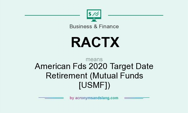 What does RACTX mean? It stands for American Fds 2020 Target Date Retirement (Mutual Funds [USMF])