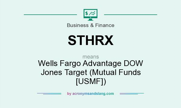 What does STHRX mean? It stands for Wells Fargo Advantage DOW Jones Target (Mutual Funds [USMF])