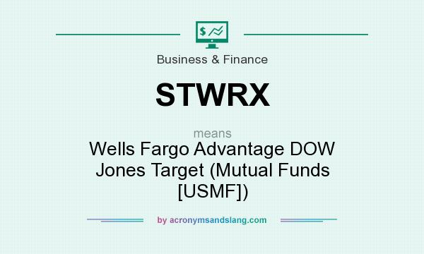What does STWRX mean? It stands for Wells Fargo Advantage DOW Jones Target (Mutual Funds [USMF])