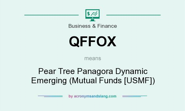 What does QFFOX mean? It stands for Pear Tree Panagora Dynamic Emerging (Mutual Funds [USMF])