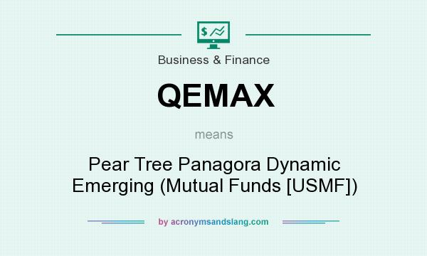 What does QEMAX mean? It stands for Pear Tree Panagora Dynamic Emerging (Mutual Funds [USMF])