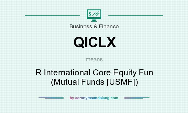 What does QICLX mean? It stands for R International Core Equity Fun (Mutual Funds [USMF])