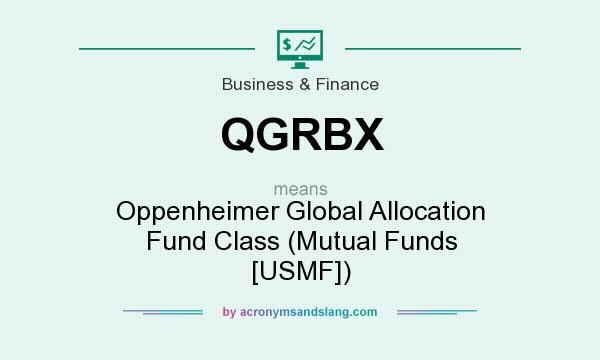 What does QGRBX mean? It stands for Oppenheimer Global Allocation Fund Class (Mutual Funds [USMF])