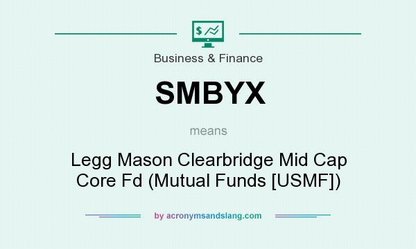 What does SMBYX mean? It stands for Legg Mason Clearbridge Mid Cap Core Fd (Mutual Funds [USMF])