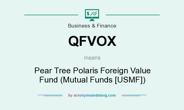 What does QFVOX mean? It stands for Pear Tree Polaris Foreign Value Fund (Mutual Funds [USMF])