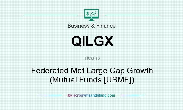 What does QILGX mean? It stands for Federated Mdt Large Cap Growth (Mutual Funds [USMF])