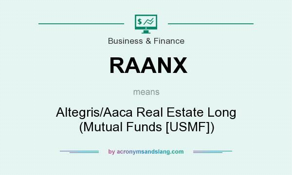 What does RAANX mean? It stands for Altegris/Aaca Real Estate Long (Mutual Funds [USMF])