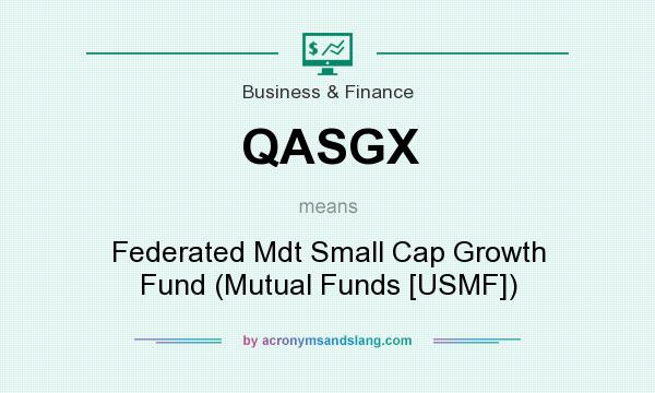 What does QASGX mean? It stands for Federated Mdt Small Cap Growth Fund (Mutual Funds [USMF])
