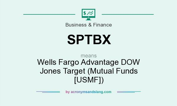 What does SPTBX mean? It stands for Wells Fargo Advantage DOW Jones Target (Mutual Funds [USMF])