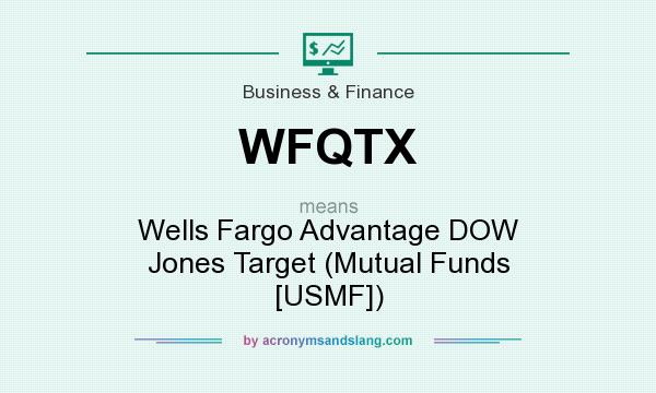 What does WFQTX mean? It stands for Wells Fargo Advantage DOW Jones Target (Mutual Funds [USMF])