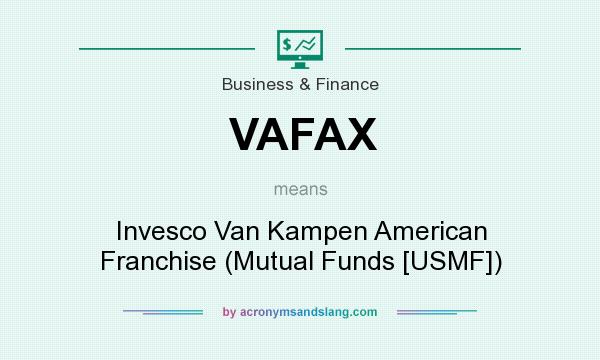 What does VAFAX mean? It stands for Invesco Van Kampen American Franchise (Mutual Funds [USMF])