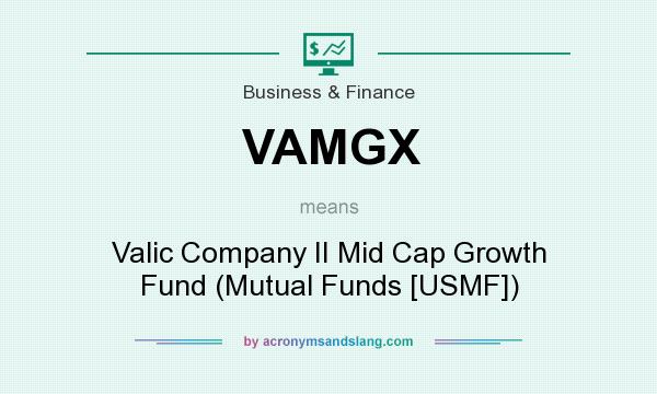 What does VAMGX mean? It stands for Valic Company II Mid Cap Growth Fund (Mutual Funds [USMF])