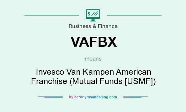 What does VAFBX mean? It stands for Invesco Van Kampen American Franchise (Mutual Funds [USMF])